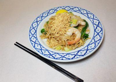 Pâtes de riz sauté aux crevettes