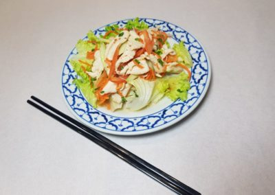 Salade de poulet façon thaïe