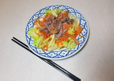 Salade de boeuf façon thaïe